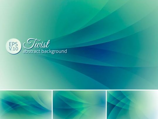 Curves abstract background vectors set 20