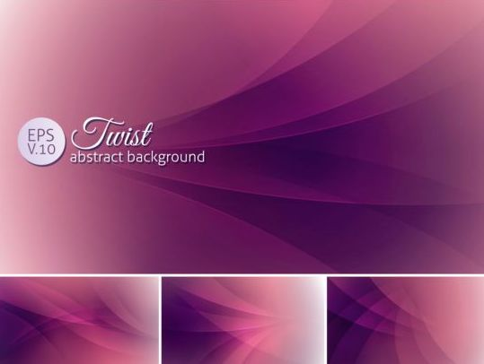 Curves abstract background vectors set 21