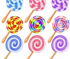 Cute lollipop vector set