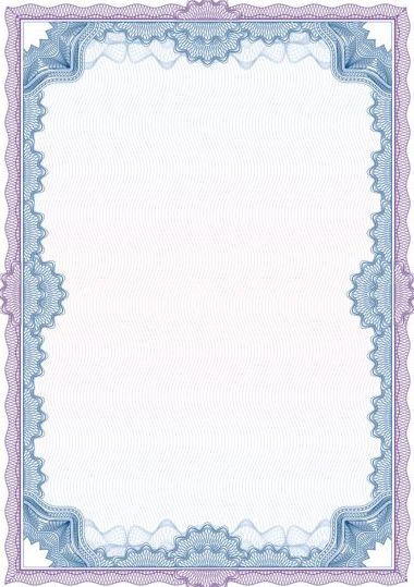 elegant diploma with certifikate frame vector 07