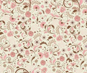 Elegant floral retro pattern seamless vector 01