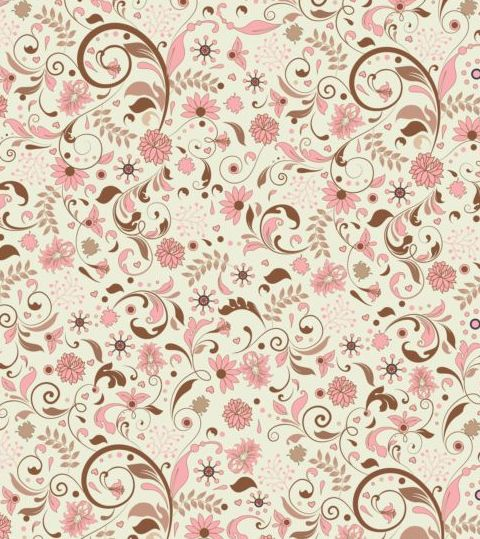 Elegant Floral Retro Pattern Seamless Vector 01 Free Download