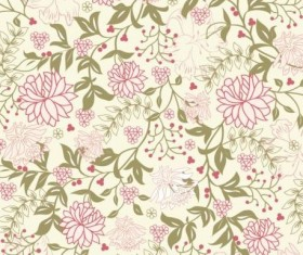Elegant floral retro pattern seamless vector 02