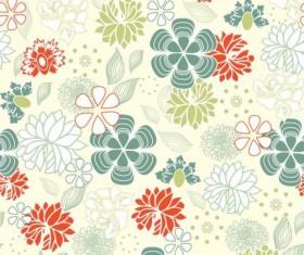 Elegant floral retro pattern seamless vector 04