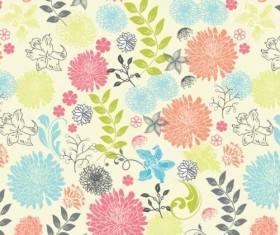 Elegant floral retro pattern seamless vector 05