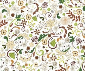 Elegant floral retro pattern seamless vector 06