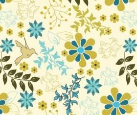 Elegant floral retro pattern seamless vector 07