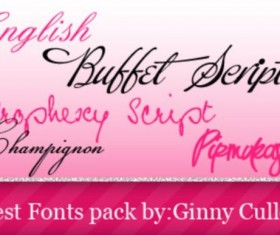 Elegant hand-painted fonts