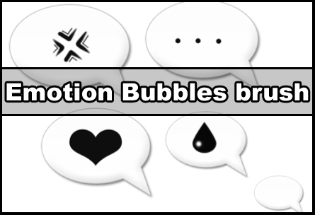 Emotion bubbles PS brushes