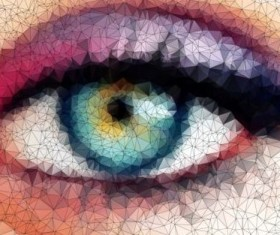 Eye with geometric shapes background vector 12