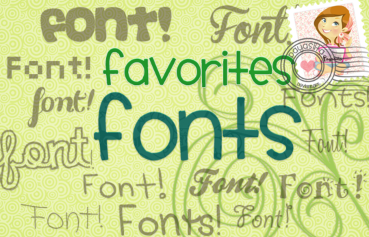 Favorites Cartoon Fonts set