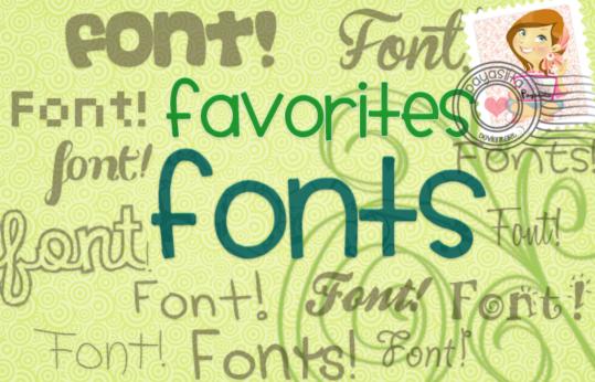 Favorites Cartoon Fonts set