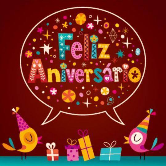Feliz Aniversario Portuguese Happy Birthday card vector Vector – Portuguese Birthday Cards