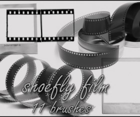 Film photoshop brushes set