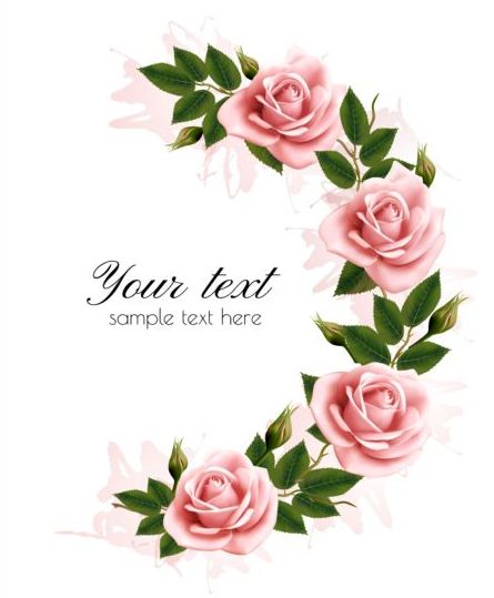 Flower frame with beauty pink flowers vector free download flower frame with beauty pink flowers vector mightylinksfo