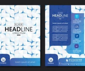 Flyer with brochure geometric pattern cover template vector 05