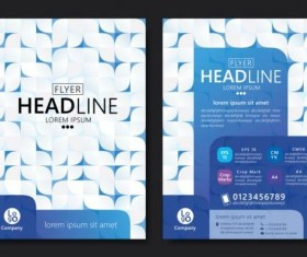 Flyer with brochure geometric pattern cover template vector 06