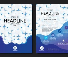 Flyer with brochure geometric pattern cover template vector 07