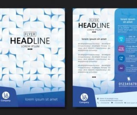 Flyer with brochure geometric pattern cover template vector 08