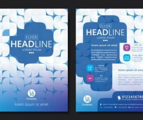 Flyer with brochure geometric pattern cover template vector 09