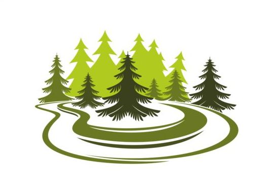 Forest Trees Logo Vectors 01 Free Download