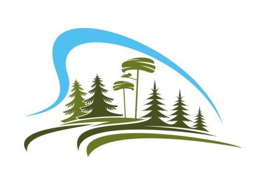 forest trees logo vectors 02 free download