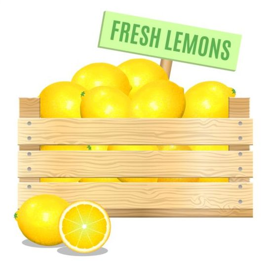 Fresh lemons poster vector - Vector Cover, Vector Food free download: freedesignfile.com/248939-fresh-lemons-poster-vector