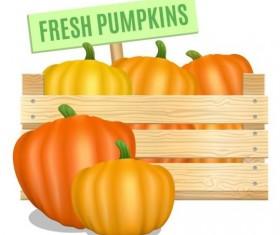 Fresh pumpkins poster vector design