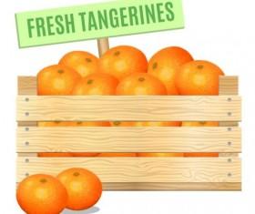 Fresh tangerines poster vector