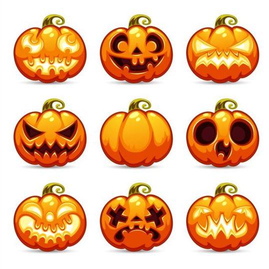 Funny ghost pumpkin halloween vector 01 - Vector Halloween free ...