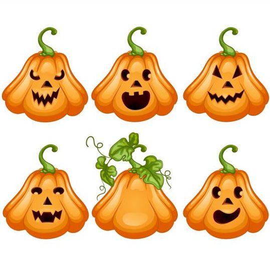 Funny Ghost Pumpkin Halloween Vector 02 Free Download