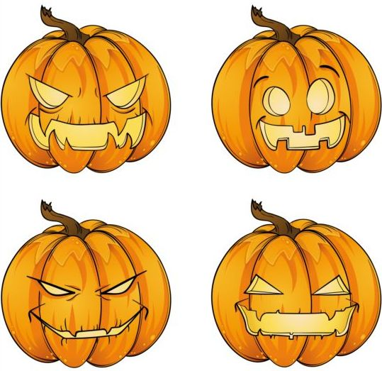 ... ghost pumpkin halloween vector 04 - Vector Halloween free download: freedesignfile.com/248881-funny-ghost-pumpkin-halloween-vector-04