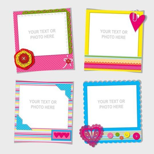 Funny photo frame vectors set 04 free download