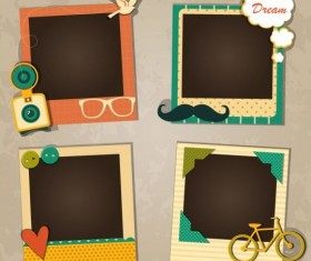 Funny photo frame vectors set 05
