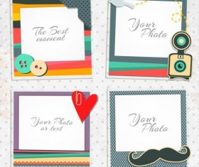 Funny photo frame vectors set 09