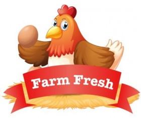 Garm fresh egg labels vector