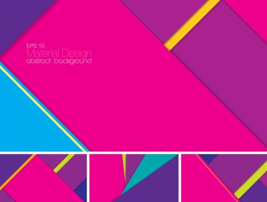 Geometric layered abstract background vector 01
