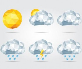 Geometry shapes weather icons