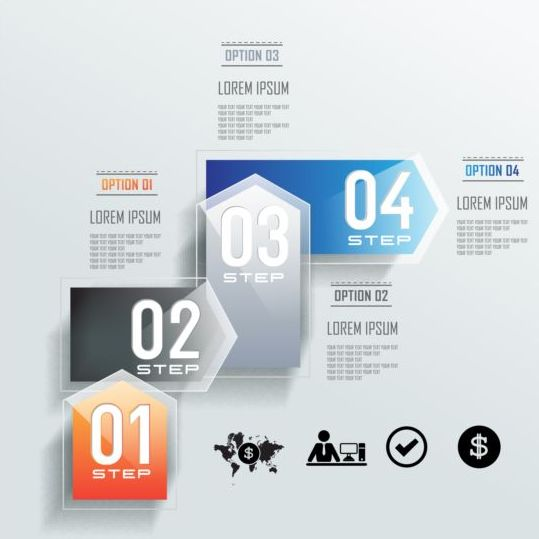 Glass infographic vector