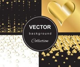 Gold heart backgroun art vector