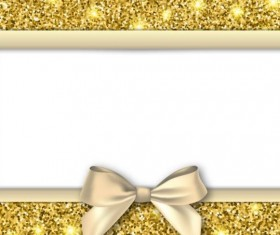 Gold with white background and bow vectors