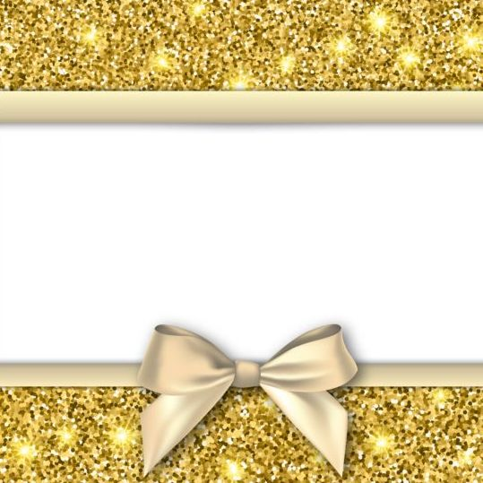 gold with white background and bow vectors vector
