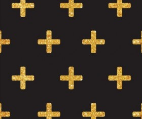 Golden cross seamless pattern vector 01