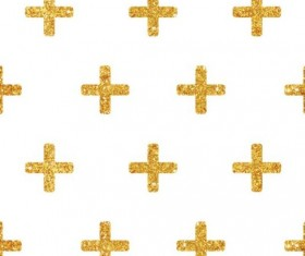 Golden cross seamless pattern vector 02
