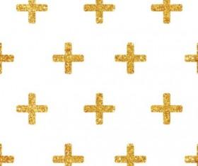 Golden cross seamless pattern vector 02