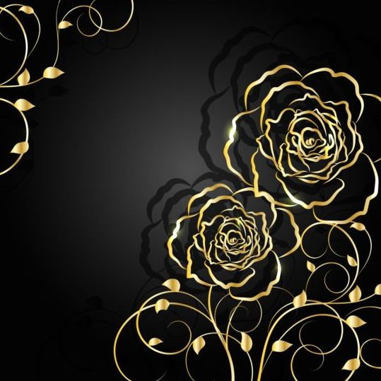 Black Background With Gold Design | www.pixshark.com ...