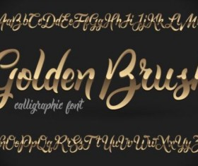 Golden fonts vector