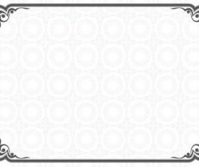 Gray vintage frame vector material
