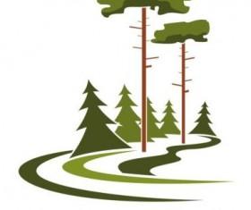 Green park logo vectors set 01