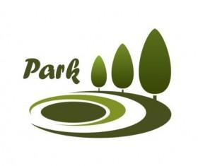 Green park logo vectors set 02